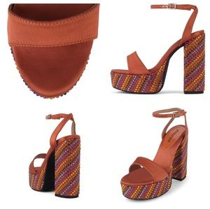 A1 Jeffrey Campbell DISCOTEQUE in Rust Size 5.5